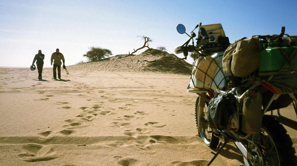 Chris Scott in Morrocco with his motorbike