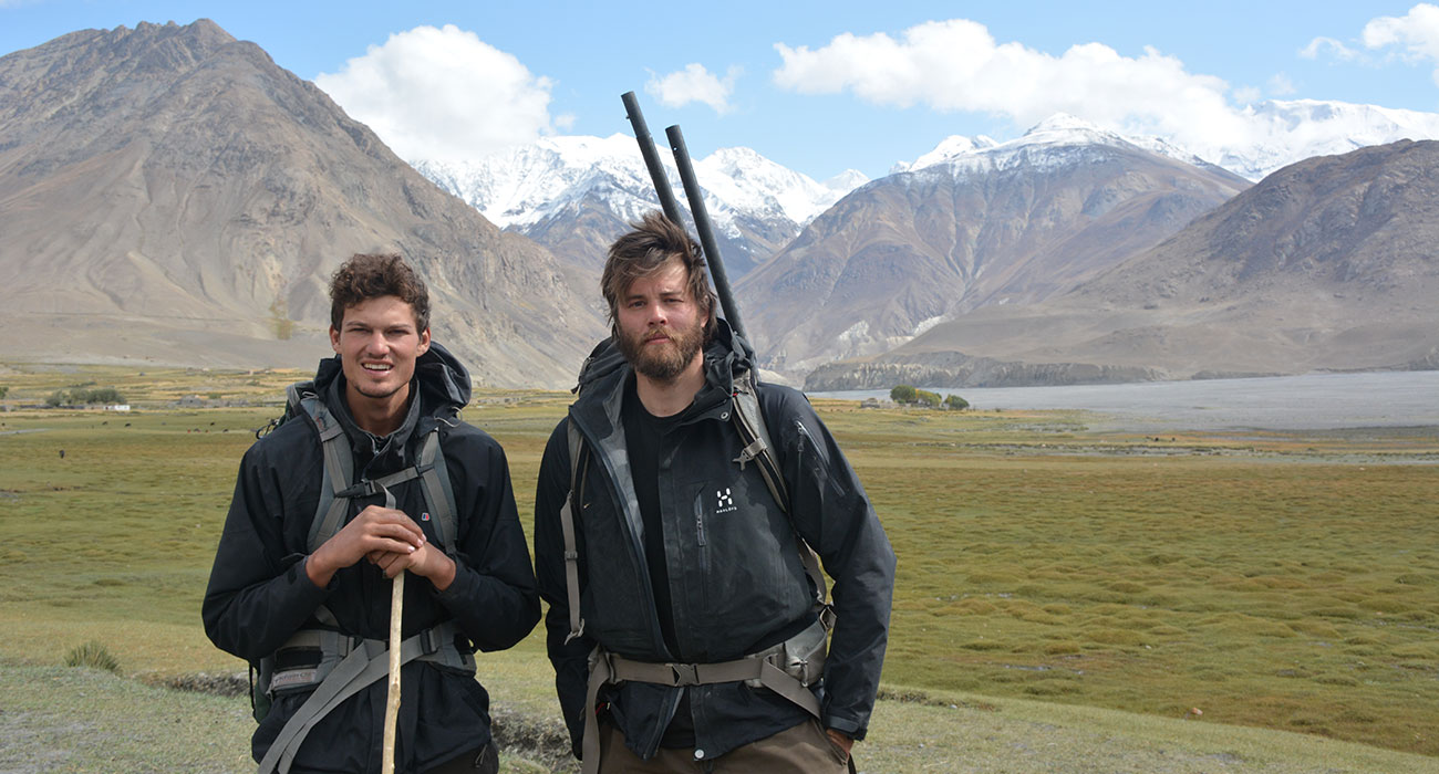 Jonathan Rider and Edmund Le Brun in Afghanistan