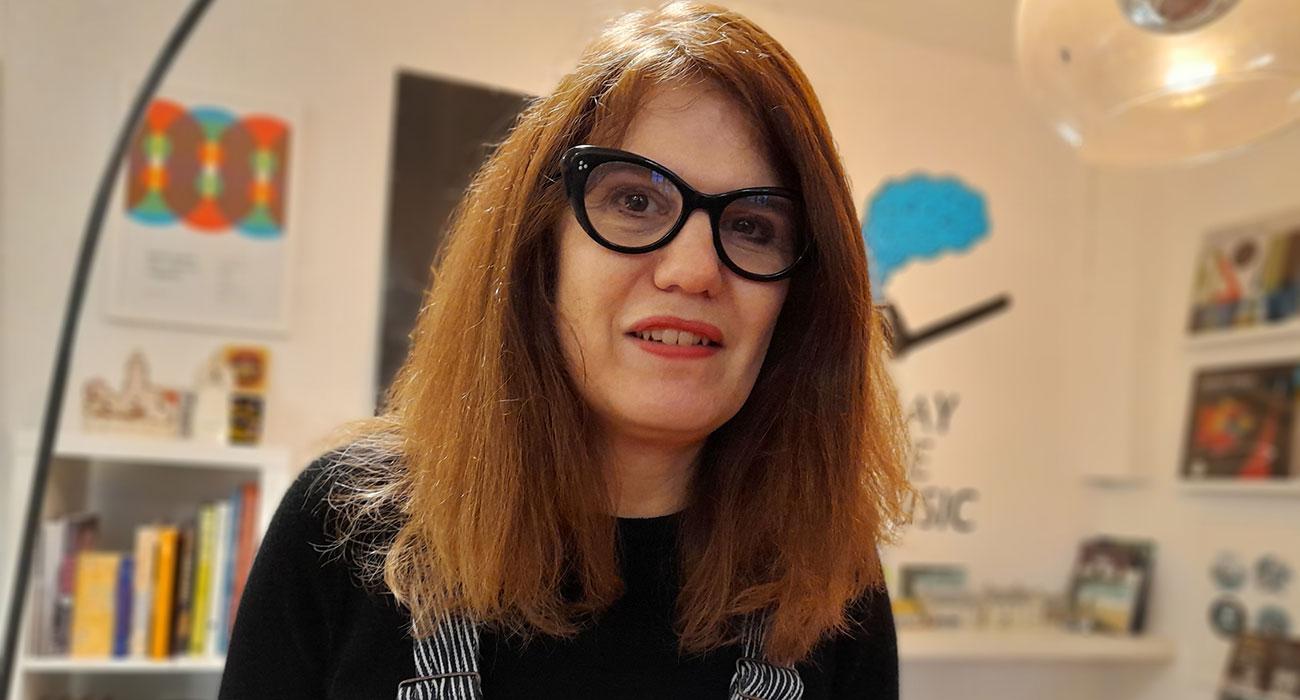 Frances Castle talking about her graphic novel Stagdale