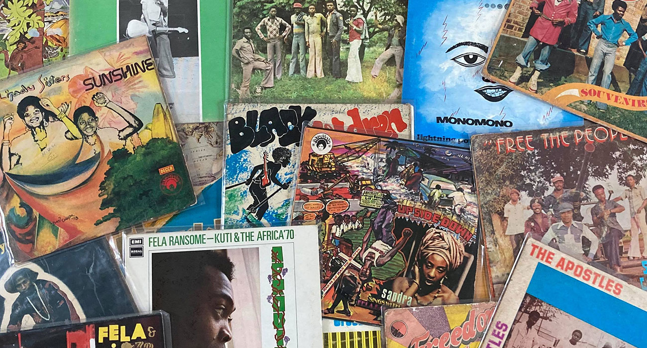 John Stapleton's African record collection